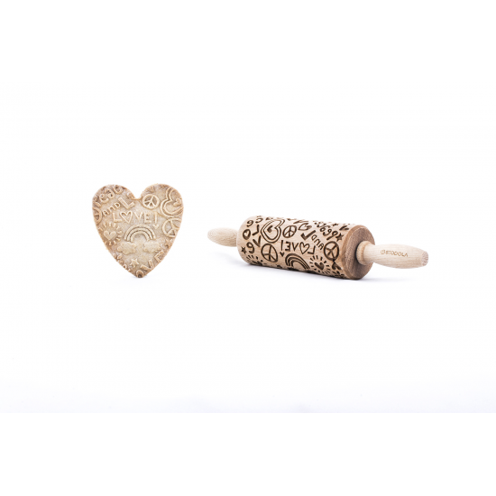 Friedenssymbole - Junior Nudelholz für Kekse