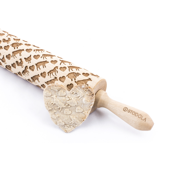 Animal Mix – Engraved rolling pin