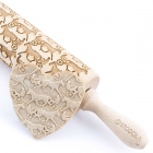 Horse sulky - Engraved rolling pin for cookies