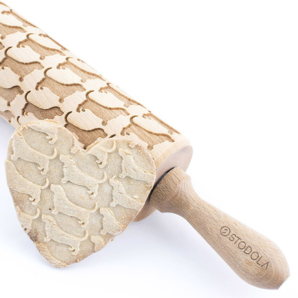 Basset hound – Engraved rolling pin for cookies
