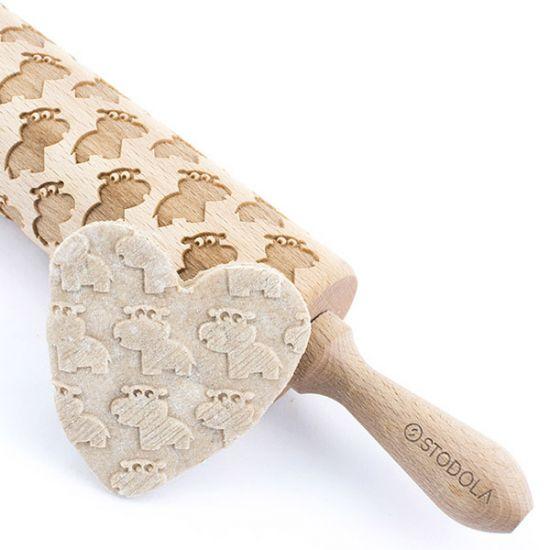 kleines Nilpferd ,,Hippi'' – Nudelholz für Kekse