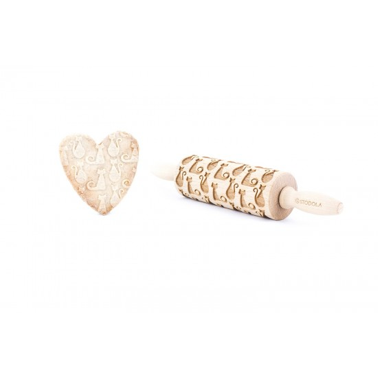 Cat and She-cat - Junior rolling pin for cookies