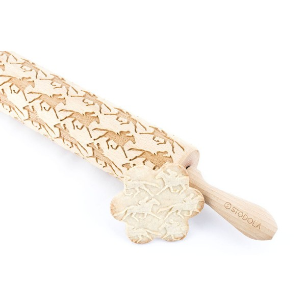 Monte horse - Engraved rolling pin for cookies