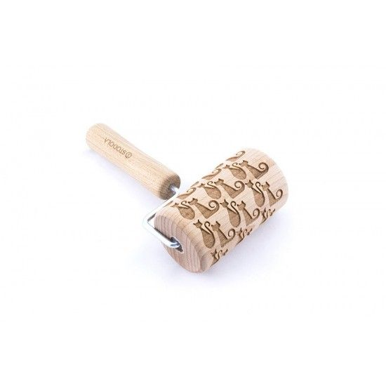 Cat and She-cat - Mini rolling pin for cookies
