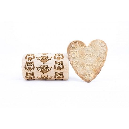 Owl - Mini rolling pin for cookies