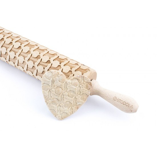 Cairn terrier – Engraved rolling pin for cookies