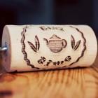 Tea Time - ein kleines eingraviertes Nudelholz für Kekse