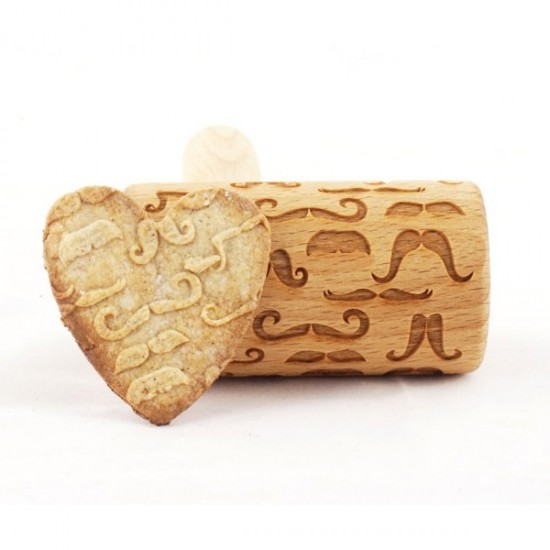 Mustache - Mini rolling pin for cookies