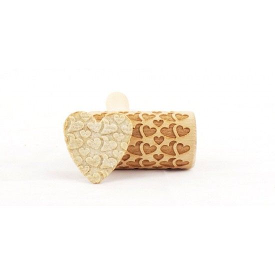 Double hearts - Mini rolling pin for cookies