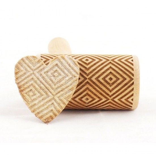 Squares - Mini rolling pin for cookies