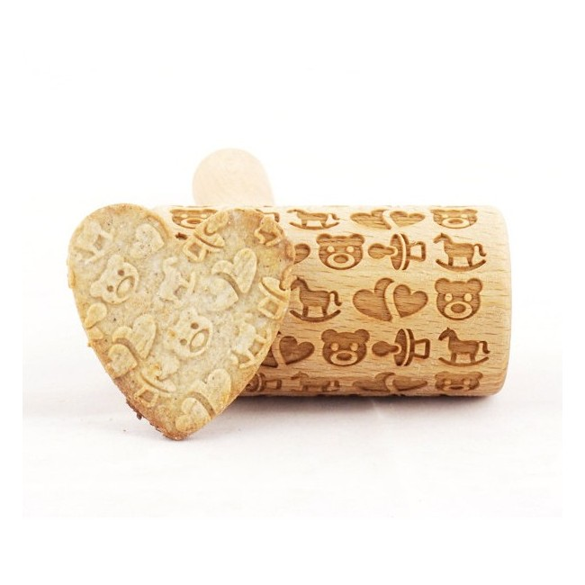 Baby pattern - Mini rolling pin for cookies