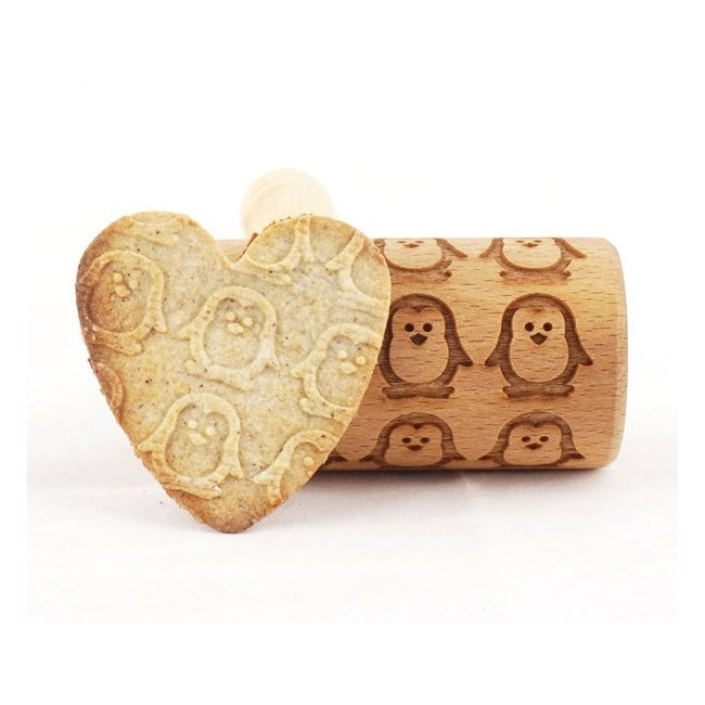 Penguins - Mini rolling pin for cookies