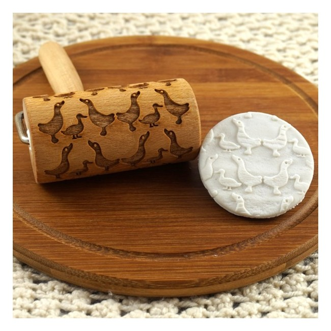 Geese - Mini rolling pin for cookies
