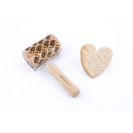 Elephants - Mini rolling pin for cookies