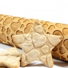 Cute Hearts - Engraved rolling pin for cookies