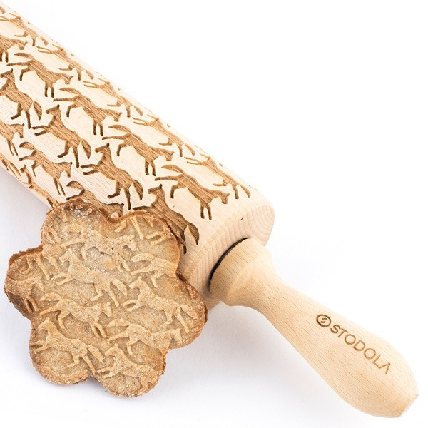 Running horses – Engraved rolling pin for cookies