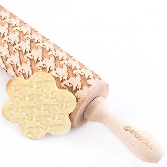 Bull rider – Engraved rolling pin for cookies