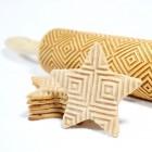Kwadraty - Grawerowany wałek do ciastek