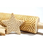 Geometric pattern – Engraved rolling pin for cookies