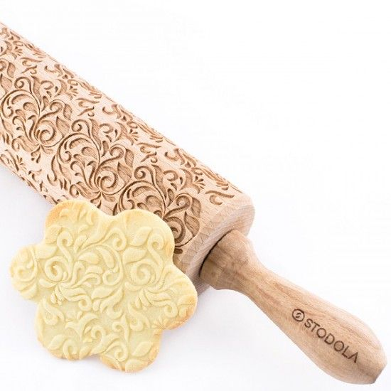 Folk Decorative - Engraved rolling pin for cookies