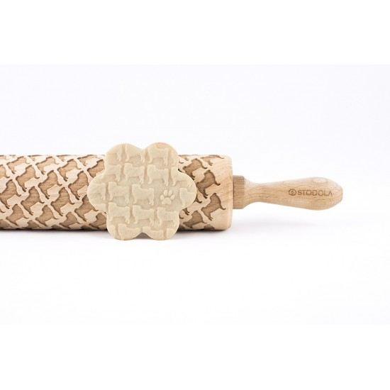 Pug – Engraved rolling pin for cookies