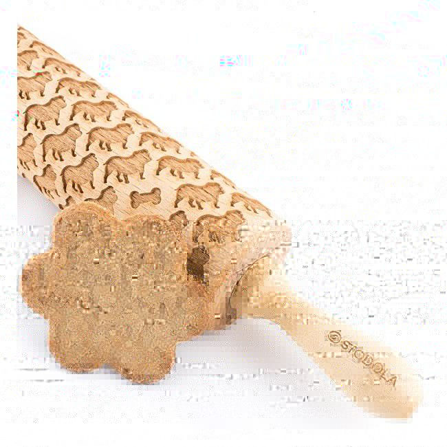 English bulldog – Engraved rolling pin for cookies