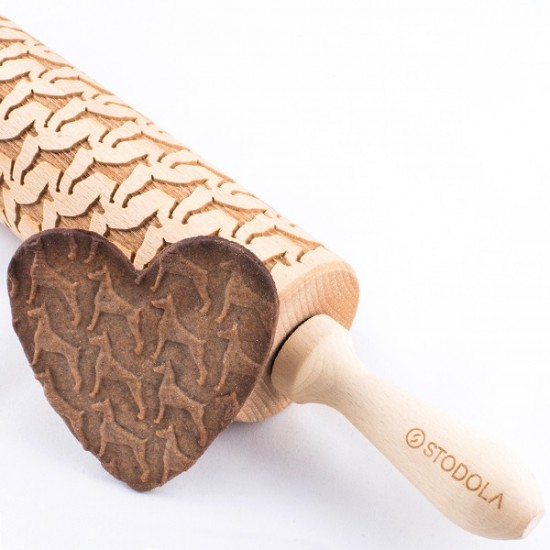 Doberman - Engraved rolling pin for cookies