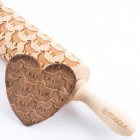 Collie rough - Engraved rolling pin for cookies