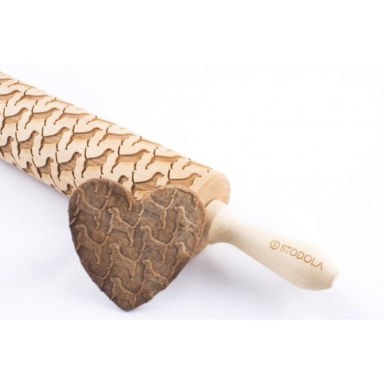 Beagle – Engraved rolling pin for cookies