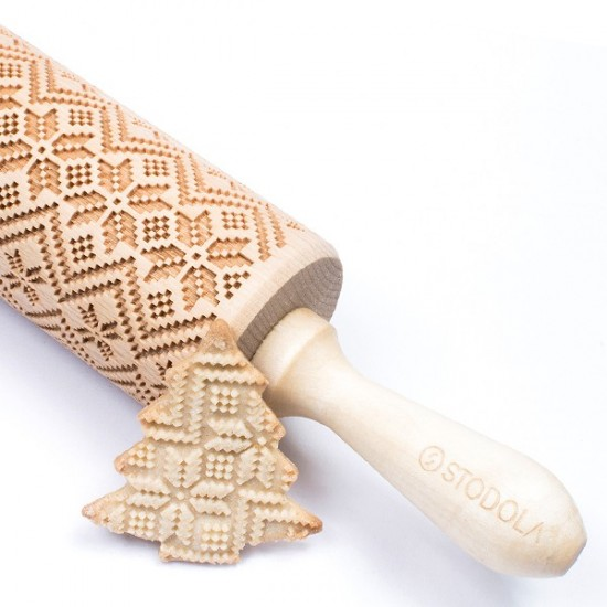 Scandinavian – Engraved rolling pin for cookies
