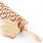 Wolfs - Engraved rolling pin for cookies