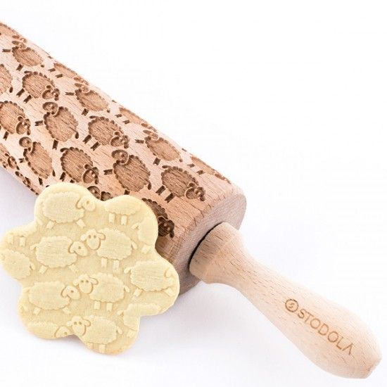 Sheep – Engraved rolling pin for cookies