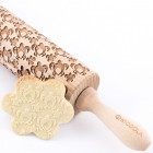 Lovely turtles - Engraved rolling pin for cookies