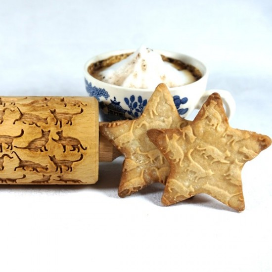 Beautiful Cats – Engraved rolling pin for cookies