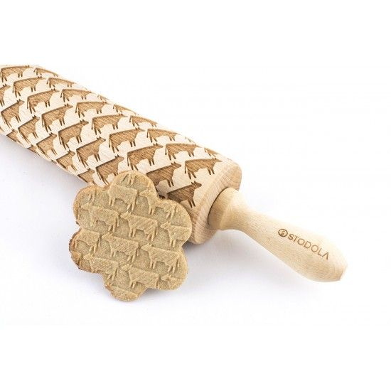 Cow - Engraved rolling pin for cookies