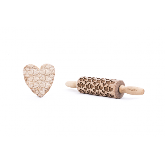 Double heart  - Junior rolling pin