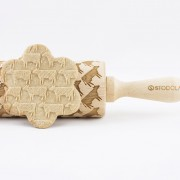 Cow engraved rolling pin stodola