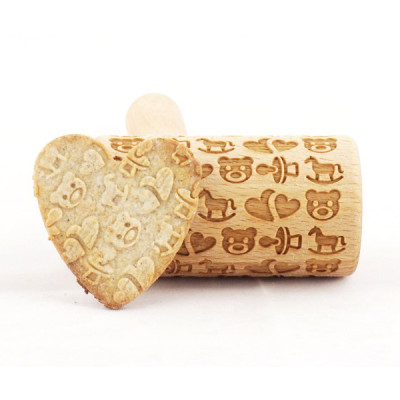 baby pattern mini engraved rolling pin stodola