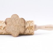 cowgirl riding horse engraved rolling pin stodola