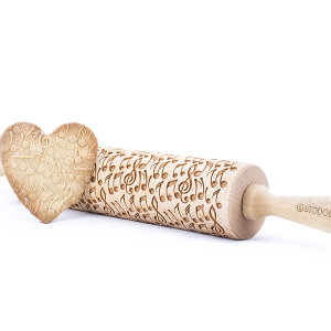 crazy notes engraved rolling pin stodola