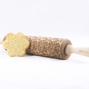 decorative floral engraved rolling pin stodola