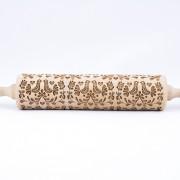 folk doves engraved rolling pin stodola