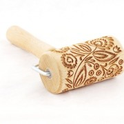 folk mini engraved rolling pin stodola