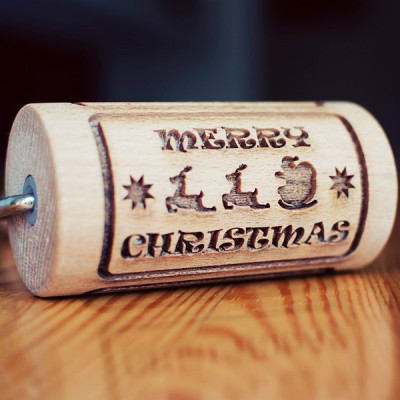 santa claus mini engraved rolling pin stodola
