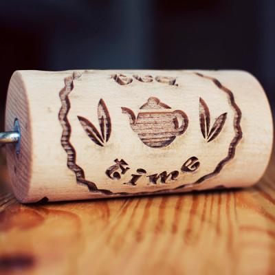 tea time mini engraved rolling pin stodola